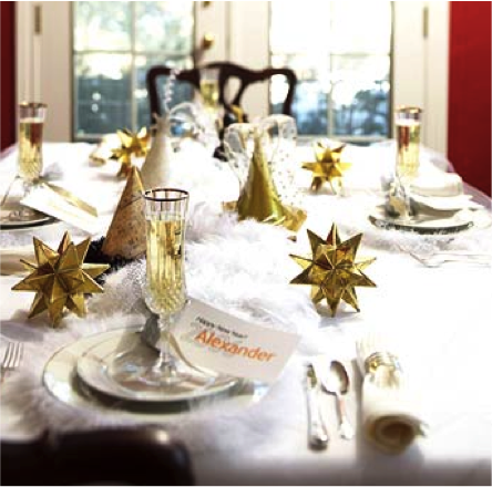 Easy New Years Table Decorations | Rose Anne Erickson